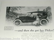 1924 Philco Batteries advertisement, Automobile and Radio Battery