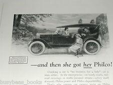 1924 Philco Batteries advertisement, Automobile and Radio Battery