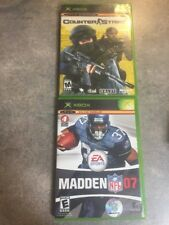 Madden 07 And Counter Strike For Original Xbox Untested