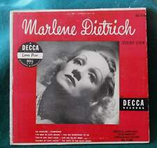 """MARLENE DIETRICH - Two 33 rpm Albums of Songs - 10"""" from 1950's, 12"""" from 1970's"""