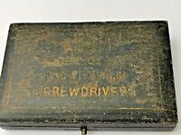 Vintage Screwdriver Case / Watchmaker Tool Case (152)
