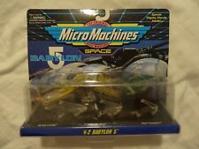 Micro Machines Babylon 5 #2 (Vorlon Cruiser, Raider Ship, Narn Transport) New