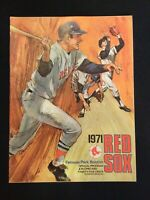 Boston Red Sox Program Scorecard/Program  1971 vs NY Yankees  (Scored)   M1524