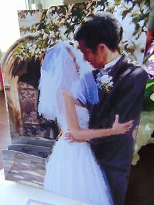 Handmade PERSONALISED Card or Topper. WEDDING BRIDE GROOM CHURCH DOOR