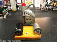 VW VOLKSWAGEN CADDY MK2 AEY 1Y SERVICE KIT OIL AIR FUEL FILTERS 5 LITRES COMMA