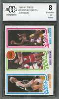 Larry Bird / Erving / Magic Johnson Rookie Card 1980-81 Topps #6 BGS BCCG 8