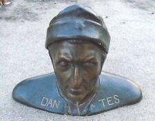 fine antique glazed Austrian pottery bust Dante