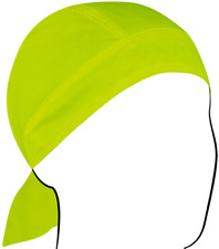 Zan 100% Cotton Lightweight Hi-Visibility Lime Headwrap / Do-Rag / Skull Cap