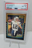 Tom Brady 2000 Bowman PSA 8 #236 Rookie RC mislabeled Gold by PSA only 1 of 1!