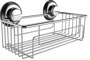 Hasko Stainless Steel Vacuum Suction Cup Shower Baskey Caddy New