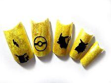 20pc or 50pc pikachu pokemon vinyl nail decals, nail stickers, DIY nails