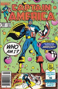 CAPTAIN AMERICA #307 VFINE 1st appearance MADCAP Marvel Comics 1985 NEW DISNEY