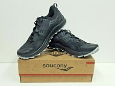 saucony PEREGRINE 10 Men's TRAIL Running Shoes Size 9.5 (Black/Red) NEW