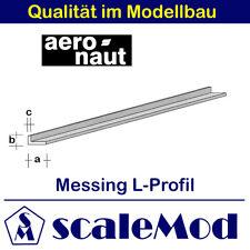 Aeronaut (7746/73) Messing L-Profil  1000mm / 3,0x2,0x0,50 mm