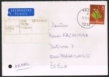 Slovenia 2013. Priority Airmail Cover. Trzin to Prague. Additional postage.