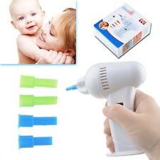 Cordless Ear Wax Vac Cleaner Remover Clean Removal Safe Hygenic Tips Suction