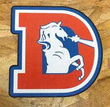 Denver Broncos D Old School Vintage Orange Helmet Decal Sticker Vintage