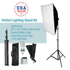 Photography Studio 125W Photo Video Softbox Continuous Lighting Stand Kit