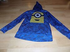 Size XL 14-16 Despicable Me Minions Blue Yellow Poly Fleece Pullover Hoodie New