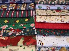 40 DIFFERENT CHRISTMAS FAT QUARTERS AT $1.00 EACH FABRIC