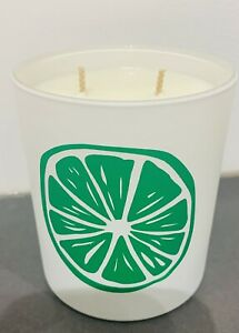 300ml Soy wax Candle White Matt Glass Lime Cooler fragrance