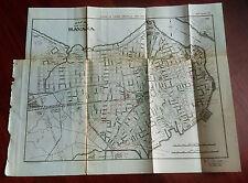 1893 Sketch Map of the City of Havana Cuba Medical Casos de Fiebre Amarilla
