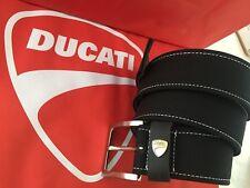 DUCATI  - Cintura pelle + tessuto Belt uomo nero mis.100
