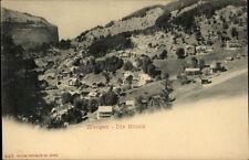 Wengen Schweiz alte Postkarte~1900 Panorama Blick auf die Hotels ungelaufen