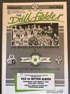 Northwich Victoria v Witton Albion(Cheshire Senior Cup S/F 1st leg 90/1) 21/3/91