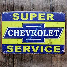 Metal Tin Sign super chevrolet service Pub Bar Home Vintage Retro Poster Cafe
