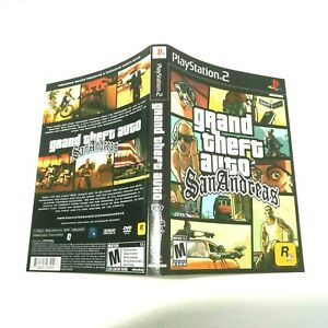 Ps2 Grand theft auto San Andreas artwork only