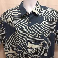 Volcom Stone Shredd SS Mens Short Sleeve Button Front Shirt Sz XL Classic Fit