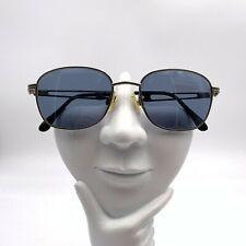 Vintage Oliver 1846 1032 Silver Metal Oval Sunglasses Frames Italy