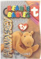 TY Beanie Babies BBOC Card - Series 3 Beanie/Buddy Left (SILVER) - HUMPHREY