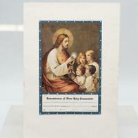 First Holy Communion Remembrance Embossed Stamp 1946 Vintage