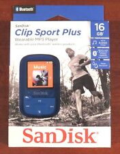 SanDisk - Clip Sport Plus 16GB - Bluetooth MP3 Player (Blue) NEW>FREE SHIPPING