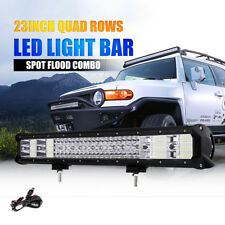 """23"""" 2256W PHILIPS Spot&Flood LED Work Light Bar Roof Front Offroad SUV Driving"""