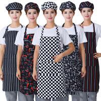 Unisex Adjustable Bib Apron Dress Kitchen Restaurant Chef Cooking  With Pocket