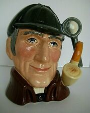 """Royal Doulton lg Toby The Sleuth 1972 8"""" high 6.5"""" Wide marked with a # 5"""
