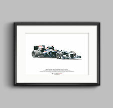 Formula 1 Art Poster Pastor Maldonado - Williams FW34 Illustration A3 size