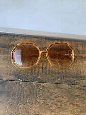 New listing Ted Lapidus Vintage 70s gold & tortoise oversized octagon sunglasses Read G150