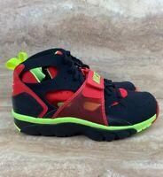 Nike Air Trainer Huarache Men's Running Shoes Strap Black Red Volt Green