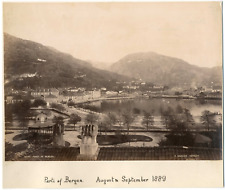 Knudsen knud, Norvège, Norway, Bergen, vue sur la ville  Vintage albumen print