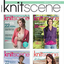 4 Issues on CD: KNITSCENE MAGAZINE 2011 + Easy Knitting Projects Patterns Cardis