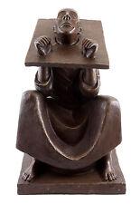 El hombre en el piso - 1918-Ernst Barlach-bronce personaje firmado