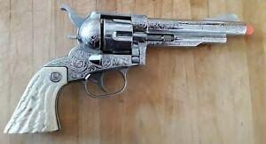 Vtg 1958 NICHOLS STALLION 41-40 Toy Die-cast Cap Gun with 6 Bullets Works Well
