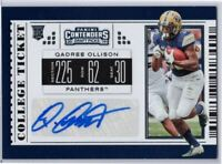 Qadree Ollison RC Auto 2019 Contenders Draft Picks #175 Pitt - ATL Falcons RB