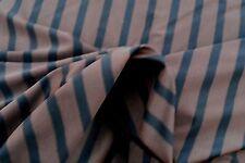 D174 Deluxe Super finejersey superbe volume bi-stretch brun foncé à rayures bleu marine &