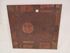 Vintage Etching Engraved Printing Machine Press Plate Stamp ~ Pearl Chips 1963
