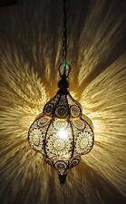 Moroccan Lamps Yellow Pendant Metal Ceiling Light Hanging Lantern Lamp 2 PCs